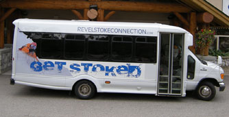 Revelstoke Connection 20 Passenger Ford Odyssey Bus