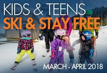 Kids & Teens Ski & Stay Free