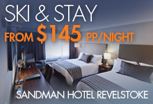 Ski & Stay from $145 pp/night